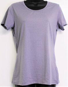 32 Degrees Cool Ladies' Short Sleeve Scoop Neck T-Shirt Size Medium -  Purple