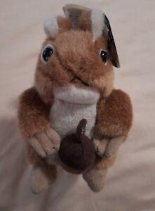 "2010 Wild Republic Talking Red Squirrel Forest Plush Stuffed Animal 2011 5.5"""
