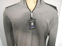 Axist Mens Long Sleeve Casual  Sweater Shirt Black/Gray Ultra Series-Medium