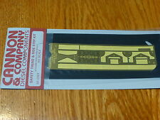 Cannon & Company #2001 Safety Tread & Step Kit (Photo-Etched Brass) -- For Athea