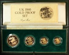 1980 Gold Four Coin Proof Sovereign Set (5, 2, 1 and 1/2)