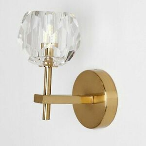 Crystal Wall Lamps Modern Minimalist Wrought Iron Gold Interior Decoration