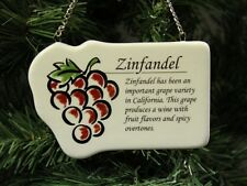 """Red Wine """"Zinfandel"""" Christmas Ornament, Grapes"""