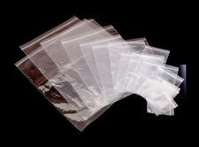 Grip Seal Bags - Self Resealable Clear Polythene Plastic Bags - Many Sizes ML