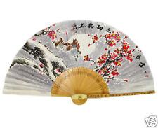 Fächer Handfächer Papier Bambus Wand Dekor Winter Japan