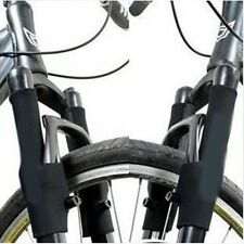 1 Pair MTB Cycling Bike Bicycle Front Fork Protector Pads Cover Wrap Guard Black