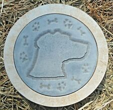 """Dog stepping stone mold plaster concrete casting mould 10"""" x 1.5"""" thick"""