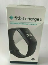 NIB Fitbit Charge 3 Fitness Activity Tracker Touchscreen Swim Proof Black