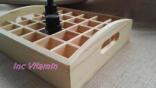 30 Bottle 10ml Essential Oil Wood Box Aromatherapy Storage Display Jewelry Case