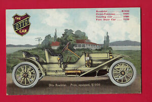 Philadelphia PA, ca 1911 advertising postcard for The Otto Car Roadster at $1950