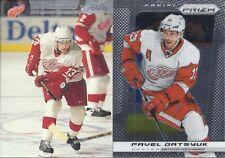 Pavel Datsyuk 2002-03 Stadium Club Silver Decoy & 2013-14 Prizm 2-Card Lot