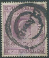 GB 1902 King Edward VII 2sh 6d lilac fine used with rare GLASGOW Parcel Postmark