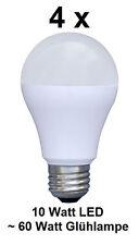 4 x 10 Watt LED Birne, E27, Warmweiß ~60 Watt Glühbirne