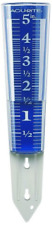 New listing Magnifying Rain Gauge 12.5inch Measures Up To 5 inches Rainwater Acrylic 00850A2