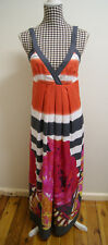 KATIES DRESS MULTI-COLOURED FLORAL MAXI DRESS, Sz 10 (#V5)
