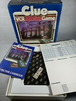 Vintage Clue VCR Mystery Board Game VHS Parker Brothers Complete 1985
