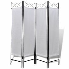 "5' 3"" x 5' 11"" Folding 4-Panel Room Divider Privacy Screen White Home Dorm"