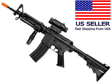 AIRSOFT M4/M16 Style Electric Gun AEG Semi/Fully Automatic + Battery Charger BBs