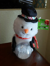 Christmas Animated Light Up Musical Snowman with Snowball