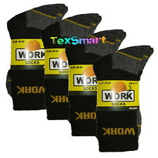 12 Pairs Men's Ultimate Work Boot Socks Size 6-11 Cushion Sole Reinforced Toe