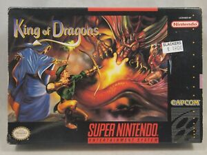 King of Dragons (Super Nintendo | SNES) Authentic BOX ONLY