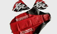 KIT SEAT COVER & TANK DECALS HONDA XR400R , XR 400 RED & BLACK, FAST SHIPPING