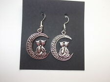 Tibetan Silver Cat Earrings