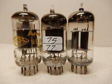 Amperex 6Bl8 (88/73%) Sylvania? 12Au7 (75/72%) & Rca 12Ax7 (77/87%) Vacuum Tubes