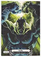2018 UD Skybox Marvel Masterpieces Hulk CG Base Canvas Gallery #95 Avengers