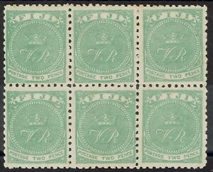 FIJI 1878 VR MONOGRAM 2D BLOCK */** PERF 10