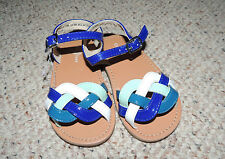 * Girls Infant Toddler Cole Haan Size 8 No Marking Blue Multi Sandals Shoes