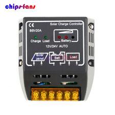 20A 12V/24V Solar Panel Charge Controller Battery Regulator Safe Protection