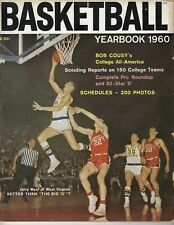 1960 Basketball Yearbook magazine Jerry West, West Virginia Mountaineers FAIR