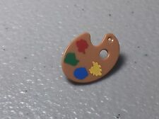 LEGO Minifig Utensil Paint Palette w/ Yellow, Blue, Green & Red Paint Spots NEW
