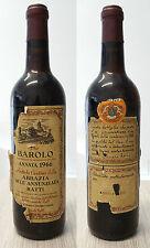 VINO BAROLO D'ANNATA 1966 CANTINE DELL'ABBAZIA DELL'ANNUNZIATA R. RATTI NUMERATA