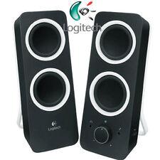 LOGITECH Z200 Speaker / Lautsprecher 2.0 Black - Audio Line-In / NEU - BLACK