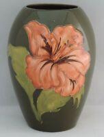 Moorcroft coral Hibiscus Vase - 14cm tall