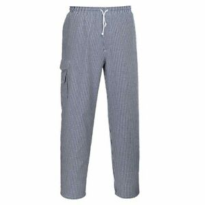 sUw - Chester Chefs Workwear Check Catering Trousers
