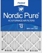 16x25x1 (15_1/2x24_1/2) Pleated Merv 12 Air Filters 6 Pack