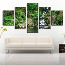 Framed canvas prints landscape forest waterfall diamond split summer picture