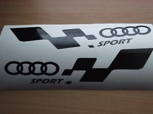 QUATTRO AUDI CIRCLES sport  LARGE car vinyl sticker decal x2