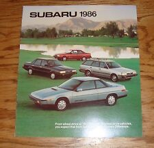 Original 1986 Subaru Full Line Sales Brochure 86 BRAT XT Coupe Sedan