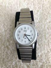 d15c14a60230 Vintage TIMEX Damas Reloj Lector Fácil con banda de expansión de tono Plata  Nuevo Sin Etiquetas