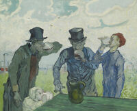 Drinkers Vincent Van Gogh Fine Art Print Canvas Giclee Reproduction Poster Small