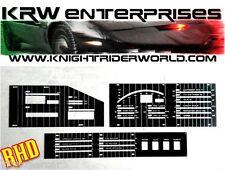 82 PONTIAC FIREBIRD KNIGHT RIDER KITT 2TV DASH ELECTRONICS PLASTIC OVERLAYS RHD
