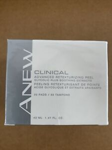 AVON Anew Clinical ADVANCED RETEXTURIZING  PEEL 30 pads- NEW & SEALED