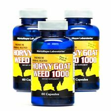 Horny Goat Weed with Maca, Saw Palmetto, Ginseng, L-arginine (1560mg) 3 Bottles