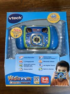 """VTech Kidizoom Camera Connect Blue 1.8"""" Screen 3-8 Years NEW"""