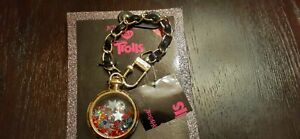 """BETSEY JOHNSON """"TROLLS"""" POCKET WATCH KEY RING/BAG CHARM-NEW WITH TAGS"""