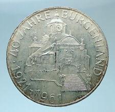 1961 AUSTRIA with Burgenland Anniversary Genuine Silver 25 Schilling Coin i77866
